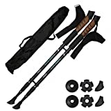 SchwabMarken 1 Pair Hiking Poles/Trekking Poles/Nordic Walking Poles Collapsible/Anti-Shock System