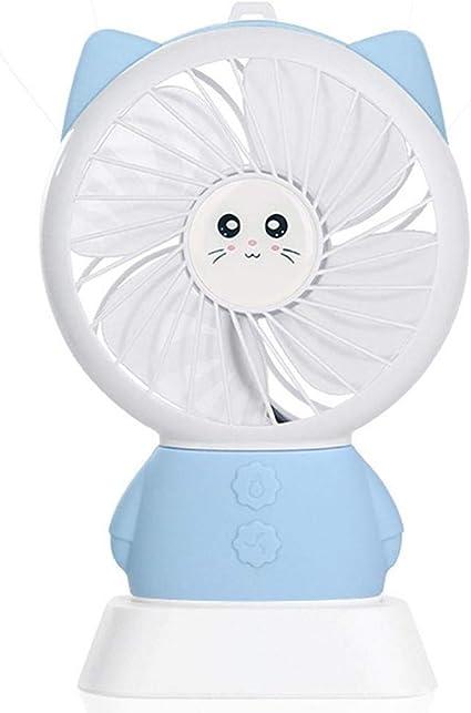 CERU Mini Ventilador Ventilador de Mano de Gato portátil con Pilas ...