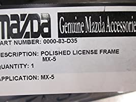 New OEM MAZDA Polished MX-5 License plate frame 0000-83-D35