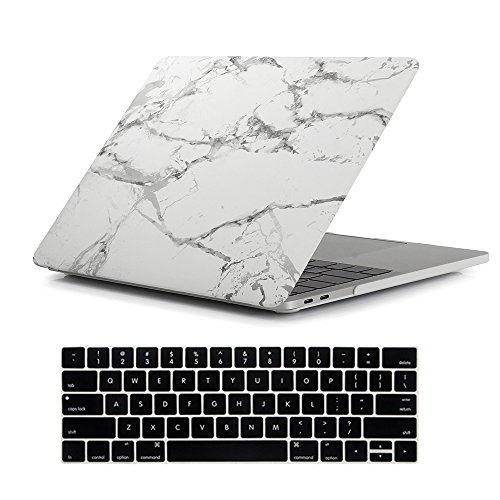 RYGOU Macbook Pro 13 Case 2016, 2 in 1 Marble Pattern Hard Shell with Keyboard Skin for MacBook Pro 13 Inch With Touch Bar Model:A1706 (Released in Oct 2016) -  New-13P-TB-Marb2-2
