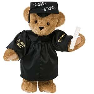 "Vermont Teddy Bear - 15"" Graduation Bear (black gown)"