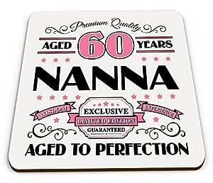Premium calidad años 60años Nanna taza brillante posavasos–rosa