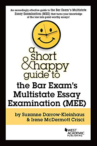 Pdf Law A Short & Happy Guide to the Bar Exam's Multistate Essay Examination (MEE) (Short & Happy Guides)