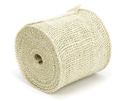Ivory Ribbon Jute (Kel-Toy Jute Burlap Ribbon, 4-Inch by 10-Yard, Ivory)