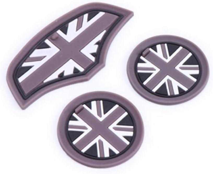 xiaobobo 3 PCS Union Jack Car Cup Caf/é Coussin De Stockage Groove Coaster Auto Antid/érapant Tapis Pad pour Mini Cooper Clubman F55 F56 Accessoires Fleur de Laurier