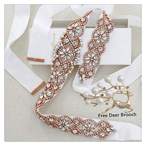 Wedding belt Bridal rhinestone sashes for bridamaid party evening prom decoration ()
