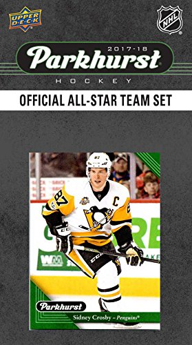 2017 2018 Upper Deck PARKHURST Official All Star Series NHL Hockey 10 Card Set Featuring Alexander Ovechkin, Auston Matthews, Connor McDavid, Sidney Crosby, Patrick Kane Plus (Penguins Upper Deck)