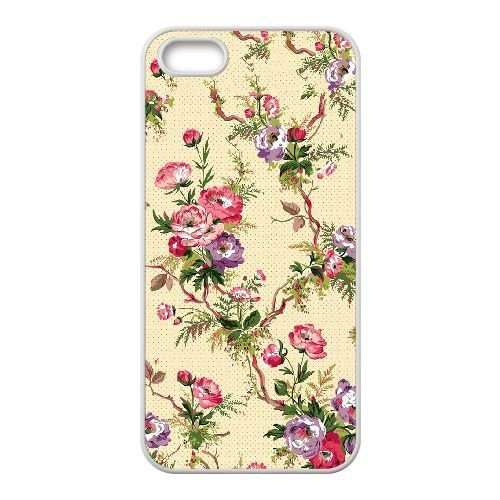 FDXGW716 iPhone 4 4s Cell Phone Case-white_Retro Flower (3)