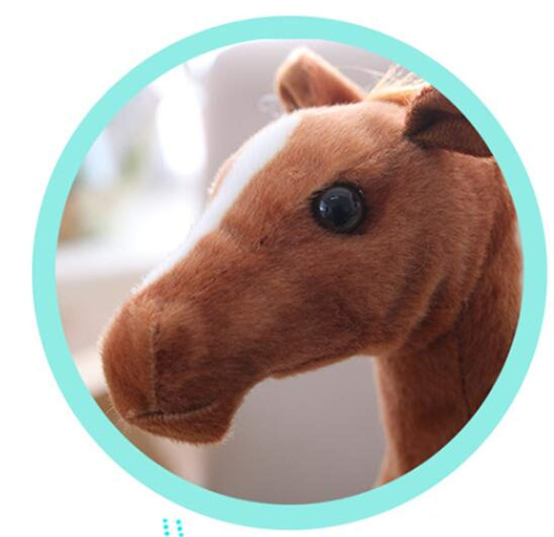 Tmrow 1PC 30cm Soft Toy The Horse Soft Plush Toy 30cm Tall American Paint Horse Plush Dolls Stuffed Kids Gift by Tmrow (Image #2)