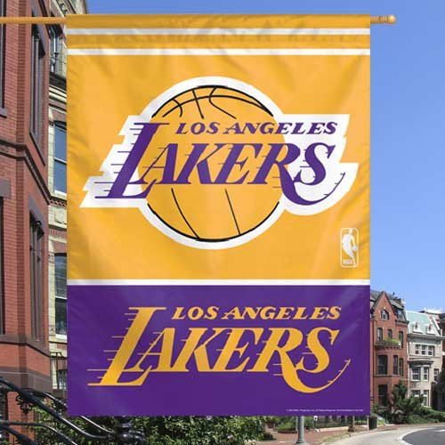 NBA Los Angeles Lakers 27-by-37-Inch Vertical Flag