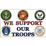FindingKing We Support Our Troops Flag with Grommets 3ft x 5ft Review