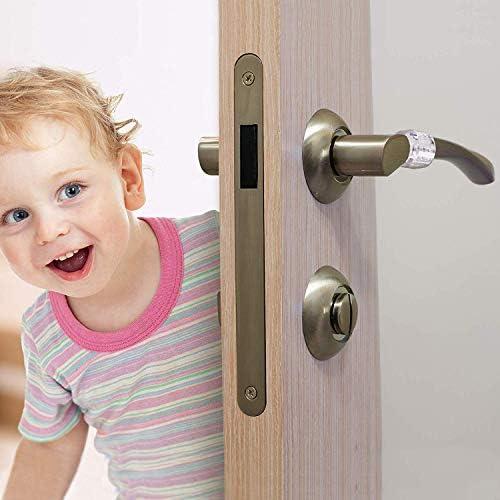 Set de 6 Junlic PVC Topes de Puerta, Topes para Puertas Transparente Silicona Flexible Ideales para Proteger la Integridad de Paredes,Muebles