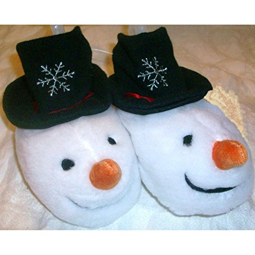 Women's Postman Pat Costume (Baby Plush Shoes Slippers Snow Man Snowman Booties Size 24-36 M)