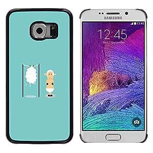 Dragon Case - FOR Samsung Galaxy S6 EDGE - ?who would risk it? - Caja protectora de pl??stico duro de la cubierta Dise?¡Ào Slim Fit