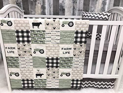 Baby Nursery Bedding, Baby, Farm LIfe, Cow, Chickens, Gender Neutral, Cowboy, Farmer, Tractor, Baby Bedding, Crib Bedding, Babylooms from Babylooms