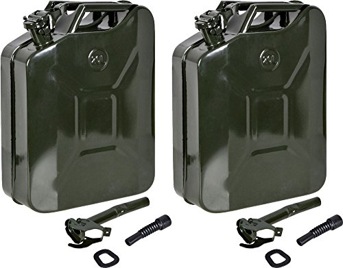 TMS LOT 2~5 Gal 20L Gasoline Gas Fuel Caddy Can Tank Emergency Backup Army Military