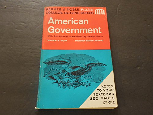 Barnes Noble College Outline Series American Government 15Th Edit SC