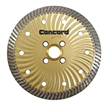 Concord Blades CBN045A10CP 4.5 Inch Granite and Marble Narrow-Turbo Wave Diamond Blade