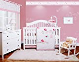 GEENNY OptimaBaby Happy Enchanted Birds 6 Piece Baby Girl Nursery Crib Bedding Set Reviews