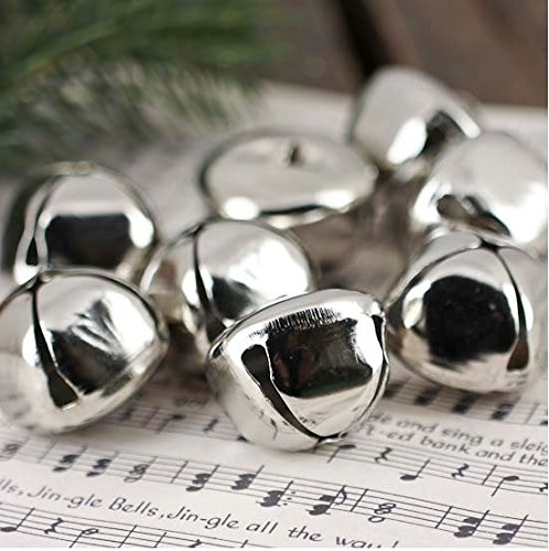 (Jingle Bells 3/4-Inch,(100-Bell) Metal Platina Plated)