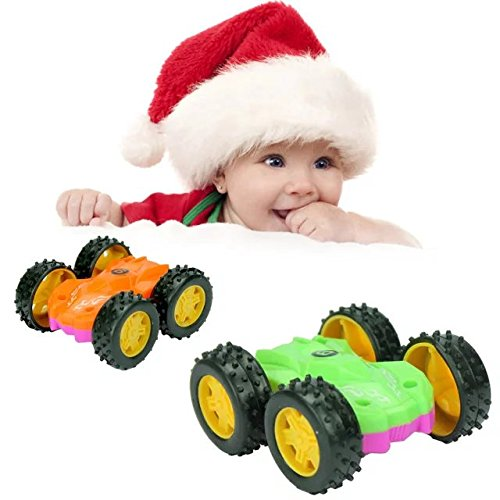 Powerful Super Unbreakable Puzzle Truck Toy Dumpers Inertial Double Side Car for Baby Playing Outdoor Indoor ()