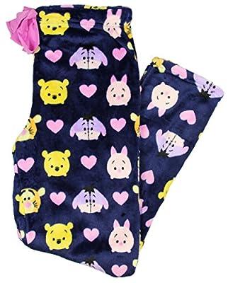 Disney Winnie The Pooh Tsum Tsum Women's Super Minky Plush Fleece Sleep Pants