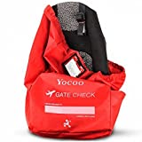 Yocoo Car Seat Travel Bag Gate Check Bag with Shoulder Straps and Storage Pouch for Air Travel Storage and Airport Gate Check - Fits Car seats, Infant Carriers & Booster