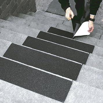 Anti Slip Treads / Non Slip Self Adhesive Step Covers   Black, Pack Of 5