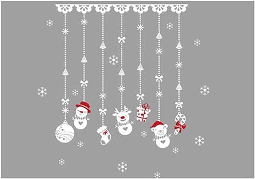 LAAT 1PCS Pegatinas DIY Animales Lindos Decoraci/ón de Fondo Color Caramelo Dibujos Animados Navidad Etiqueta de La Pared Etiqueta de Ventana