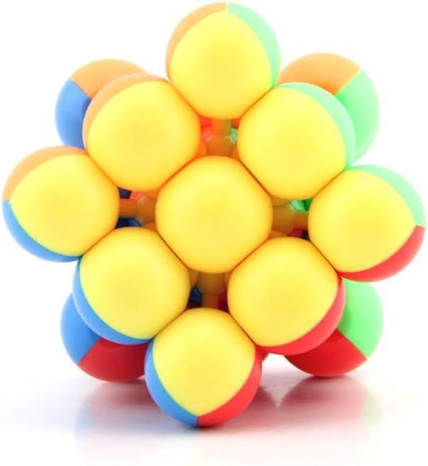 SUN-WAY YJ 3x3 Round Bead Magic Cube 3x3x3 Stickerless Speed Cube Puzzle