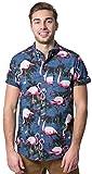 #8: Brooklyn Athletics Men's Hawaiian Aloha Shirt Vintage Casual Button Down Top