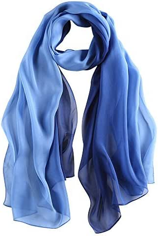 LEIDAI Womens Long Scarf Lightweight Wrap Shawl Silk Scarf