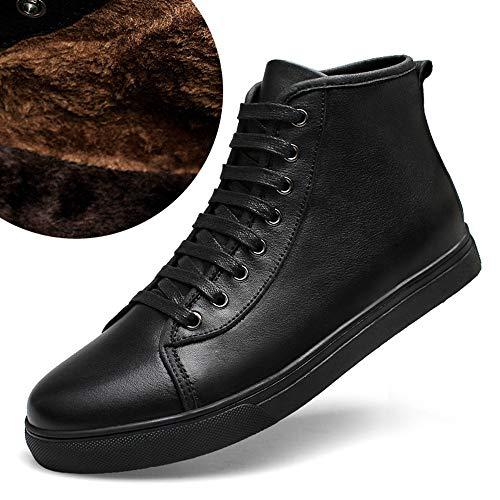 Más Vestido 47 Zapatos De Flysxp Cuero Zapatos Temporada Botas Cuatro Algodón Terciopelo Cue Para Temporadas La Hombre Cálido Además Nieve Hq1tx