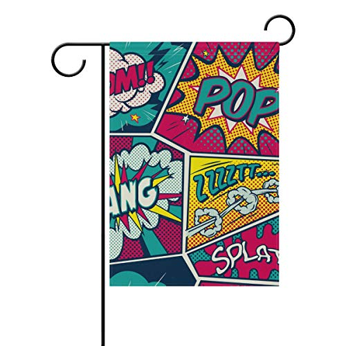 Pop Art Garden Flag Double Sided House Yard Indoor for sale  Delivered anywhere in Canada