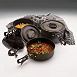 Texsport Black Ice The Scouter Hard Anodized Cook Set, Outdoor Stuffs