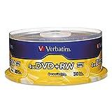 Verbatim 4X DVD+RW Media - 4.7GB - 30 Pack