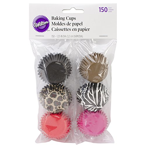 Wilton Mini Baking Cups, Fashion Animal, 150/Pack