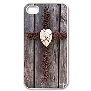 HXYHTY Customized Print Jesus Christ Cross Pattern Back Case for iPhone 4/4S