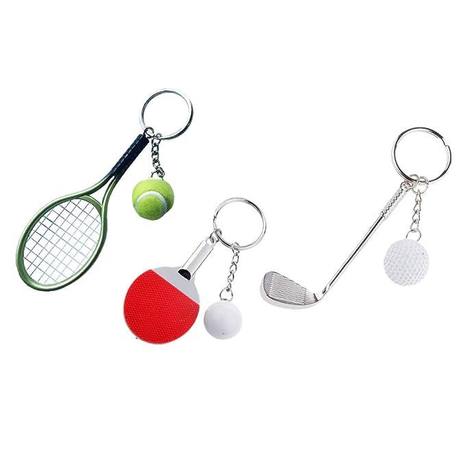 35f0ae9be P Prettyia 3 Sets Pelota de Tenis de Mesa Encantos Colgantes Adornos  Artesanías para Niños Regalos  Amazon.es  Juguetes y juegos