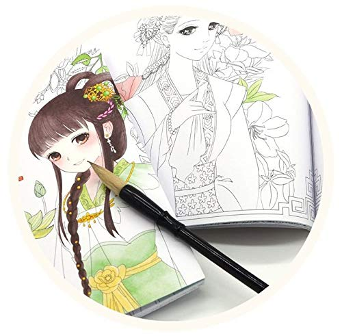matar el tiempo dibujo Cuaderno de dibujo de 100 p/áginas de belleza china antigua para aliviar el estr/és pintura cuaderno