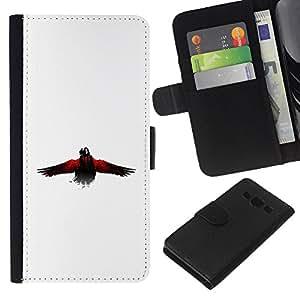 EJOY---La carpeta del tirón la caja de cuero de alta calidad de la PU Caso protector / Samsung Galaxy A3 / --El Cuervo Cuervo