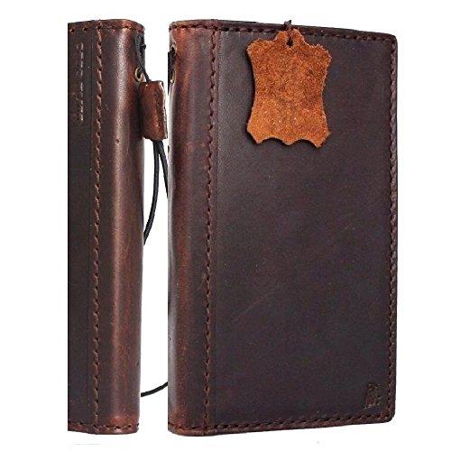 New Premium Leather Case (Genuine Italian Leather Case for Samsung Galaxy S5 Premium Wallet Handmade Luxury Business S 5 New DavisCase)