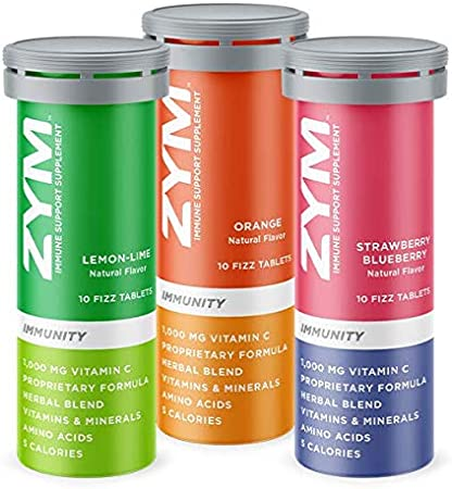 ZYM Boost Immunity Variety Pack - Electrolyte & Vitamin C Supplement with Over 13 Vitamins, Minerals & Herbs to Help Support Your Immune System (Boost, 3 Pack)