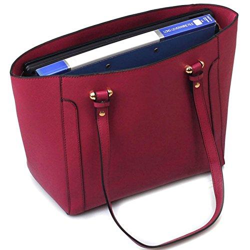 o da nbsp;cm a 5 Burgundy lavoro donna borsa da sintetica università London tracolla 30 borse Grande da con in pelle Xardi maniglie fAFpHq