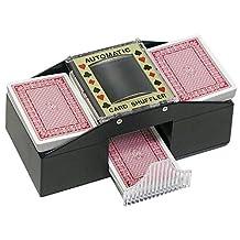 Trademark Poker Texas Hold'em Card Shuffler Card Shuffler, Black