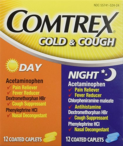 Comtrex Day/Night Cold and Cough Caplets, 2 Count