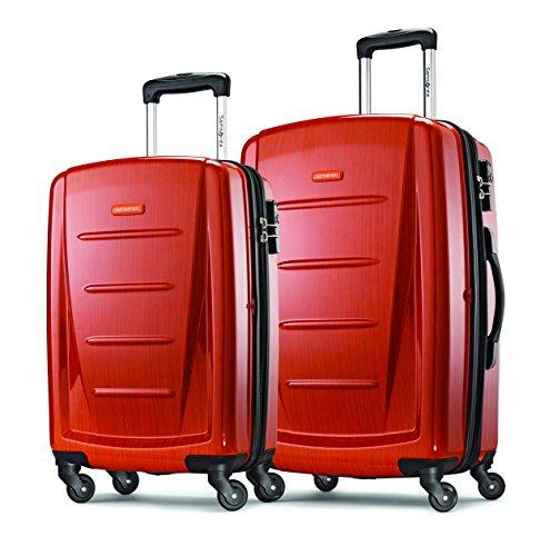 """Samsonite Winfield 2 Fashion Two-Piece Spinner Set (20""""/24""""), Orange"""