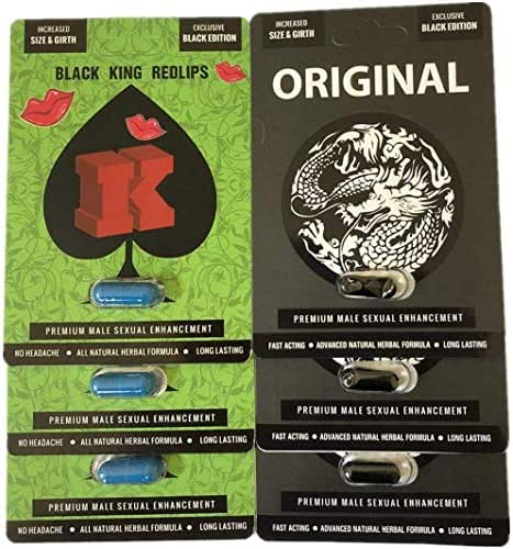 Big K Redlips Red Lips Black Original White Dragon Enhancement Pills Bundle (Bundle)