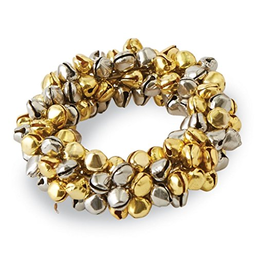 Mud Pie Jingle bell Napkin Ring (Gold Silver Bells)