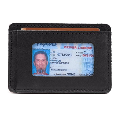Saddleback Leather Front Pocket ID Wallet - Best Selling 100% Full Grain Small Leather Wallet with 100 Year Warranty